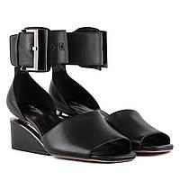 Босоножки женские SASHA FABIANI (черного цвета, изысканные, стильные, роскошный дизайн)
