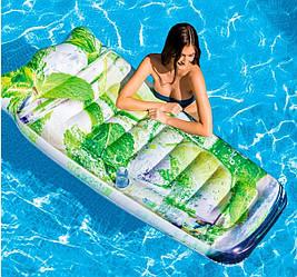 """Надувной матрас """"Мохито"""" INTEX 178х91см (Интекс) от 6 лет (до 80 кг) пляжный плот для плавания"""