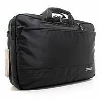 Сумка-портфель-рюкзак для ноутбука компьютера текстильная черная Epol 7028