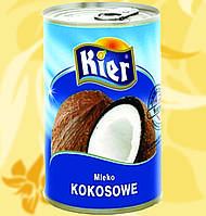 Кокосовое молоко, Kier,18-19%, 400мл, Вл