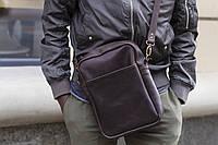 Практичная сумка натуральная кожа Boorbon 619 ручная работа сумка через плечо унисекс сумка мужская подарок