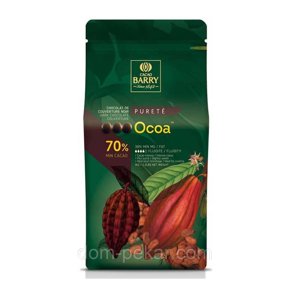 Шоколад кувертюр Cacao Barry OCOA черный 70% CHD-N70OCOA, 1 кг