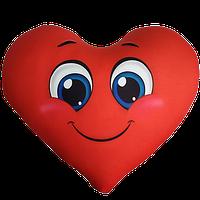 Антистрессовая игрушка-подушка Сердце «СмайлБольшой»