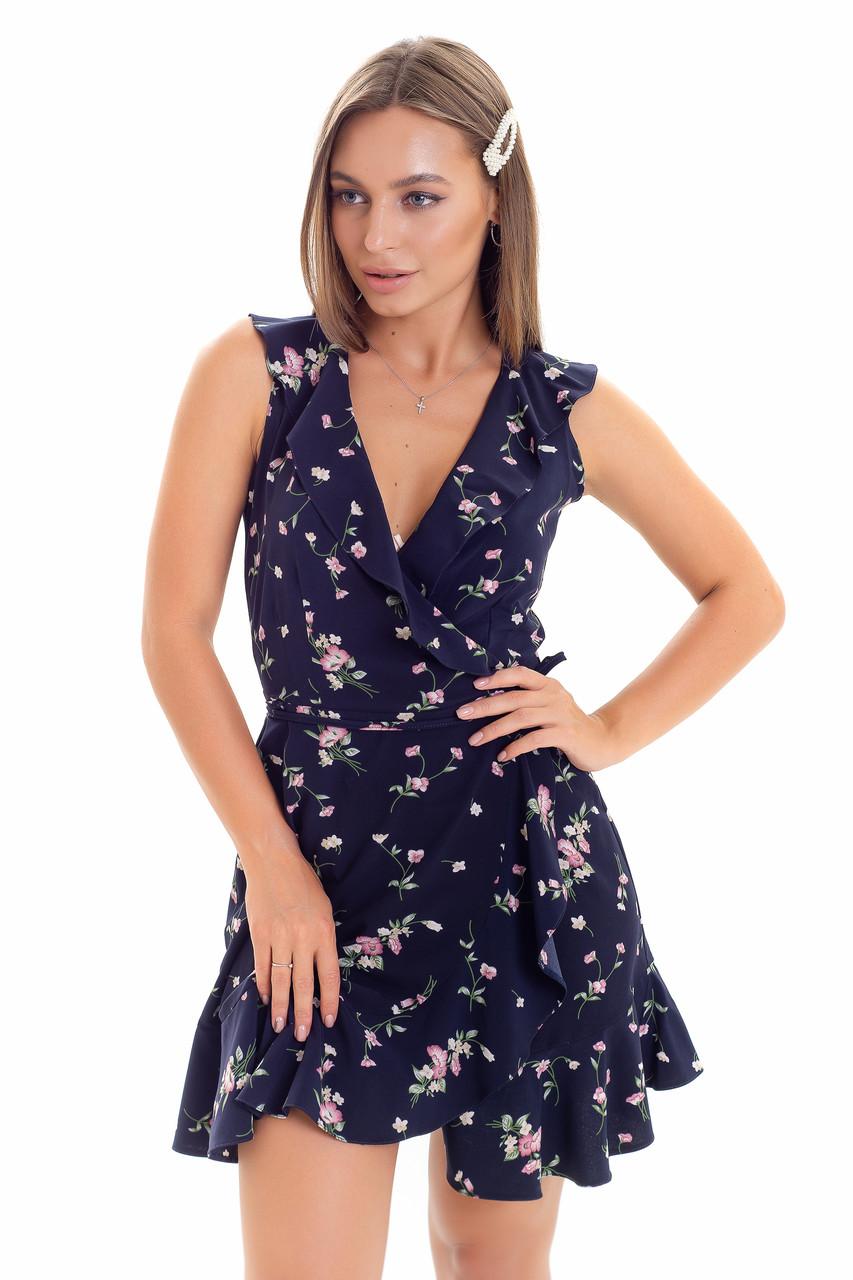 Летнее женское платье с запахом