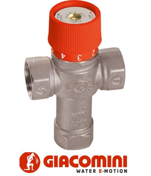 """Термостатичний змішувальний клапан """"1"""" для гарячого водопостачання 38-60 °С Giacomini"""