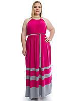 Женские сарафаны больших размеров ярко-розового цвета 592