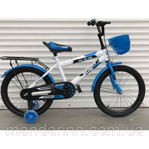 """Детский велосипед """"topRider-804 """"20 дюймов синий"""