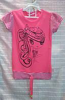 Туника розовая для девочки 5-7 лет