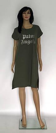 Платье однотонное с боковыми карманами, фото 2