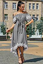 Женское асимметричное платье с кружевом по низу (3534-3533-3532 svt), фото 2