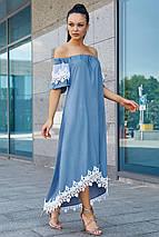 Женское асимметричное платье с кружевом по низу (3534-3533-3532 svt), фото 3