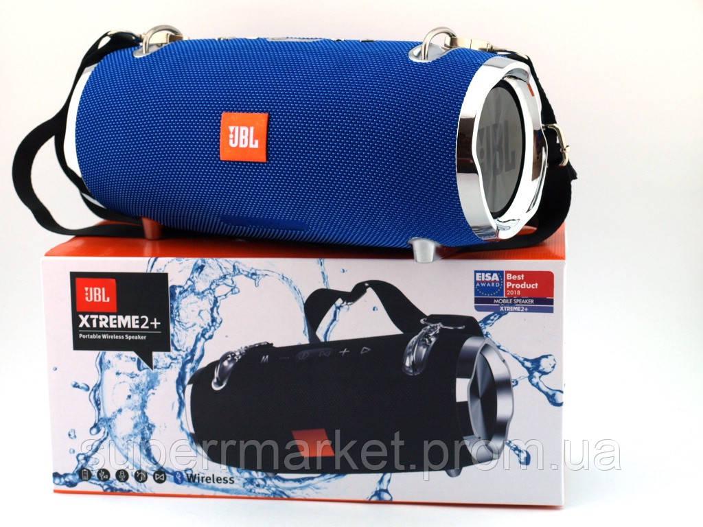JBL XTREME 2+ BIG 40W копия, портативная колонка с Bluetooth FM MP3, синяя