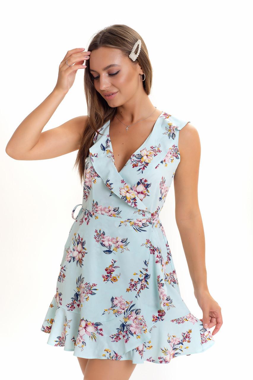 Женское летнее  платье с запахом