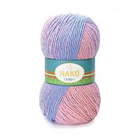 Nako Ombre пряжа для вязания шерсть с акрилом.