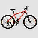 Спортивный велосипед красно-оранжевый CORSO SPIRIT 26 дюймов 21 скорость металлическая рама 17дюймов, фото 2
