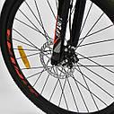 Спортивный велосипед красно-оранжевый CORSO SPIRIT 26 дюймов 21 скорость металлическая рама 17дюймов, фото 6