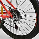 Спортивный велосипед красно-оранжевый CORSO SPIRIT 26 дюймов 21 скорость металлическая рама 17дюймов, фото 8