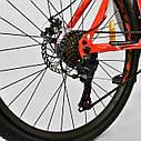 Спортивный велосипед красно-оранжевый CORSO SPIRIT 26 дюймов 21 скорость металлическая рама 17дюймов, фото 7