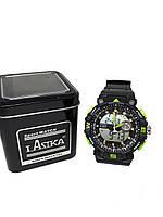 Часы K-Sport электронные + кварцевые в железной подарочной коробке. зеленый, фото 2