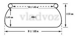 Семейный детский наливной бассейн Intex 28101 183*51 см. на 886 литров, фото 2