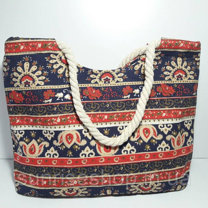 Пляжна сумка текстильна річна Орнамент опт