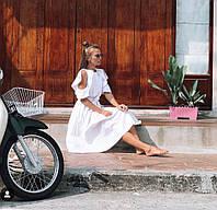 Свободное летнее платье с разрезам на плечах и открытой спиной 71ty2897