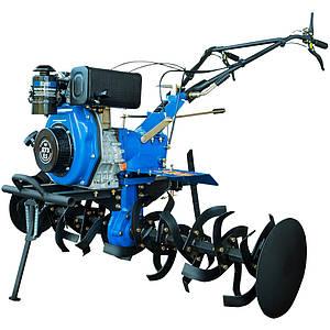 Дизельный мотоблок ДТЗ 585Д ( 8,5 л.с., ручной стартер, воздушное охлаждение, синий)