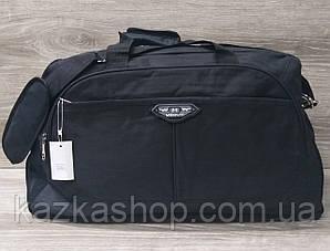 Дорожная сумка хорошего качества, среднего размера 52х28х24 см, плотный материал, ножки на дне сумке