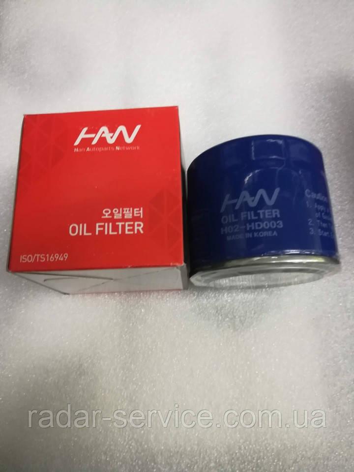 Фильтр масляный бензин Hyundai Kia, H02-HD003, 2630035504