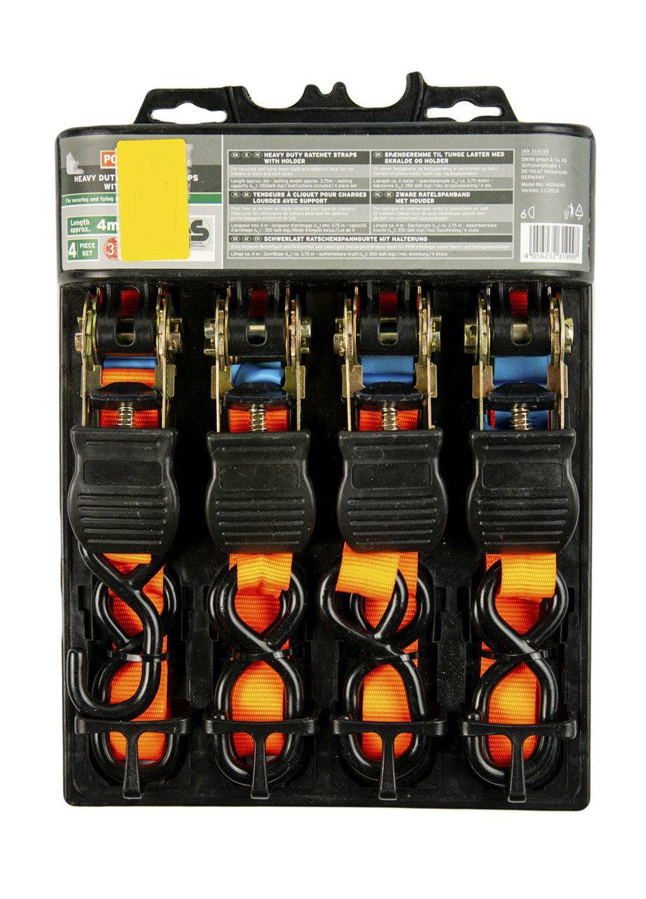 Набір стяжних ременів Powerfix (4шт) Німеччина