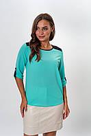 Блузка K&ML 314 бирюзовый 46, фото 1