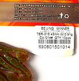 Съедобная силиконовая приманка Плоский Червь, TBR-015, цвет 014, 10шт., фото 4