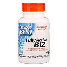 "Активный витамин B12, Doctor's Best ""Fully Active B12"" 1500 мкг (60 капсул)"