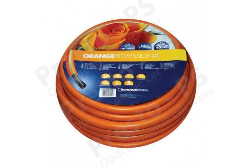 """Шланг садовый для полива Tecnotubi Orange Professional  1/2"""" (15 м)"""