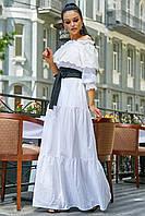 Шикарное летнее платье в пол батист 1176
