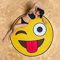 """Пляжный коврик """"Смайлик""""  Подстилка покрывало для пляжа"""
