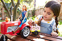 Кукла Барби Фермер на тракторе Barbie Farmer Doll and Tractor Playset, фото 1