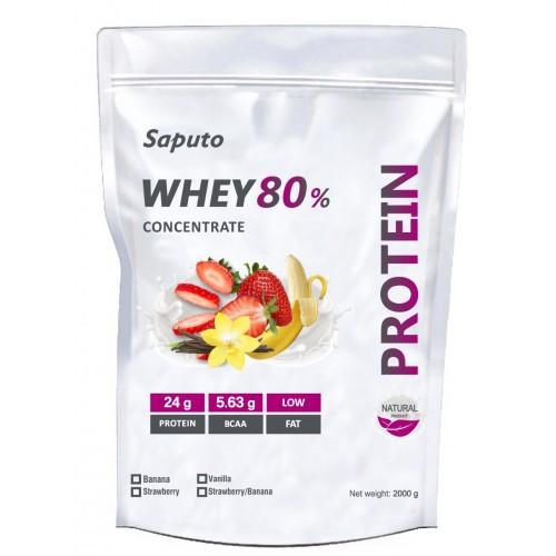 Протеин SAPUTO WHEY 80% PROTEIN CONCENTRATE 900г  Вкус: Шоколад