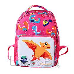 Детский рюкзак, розовый. Dinosaur.