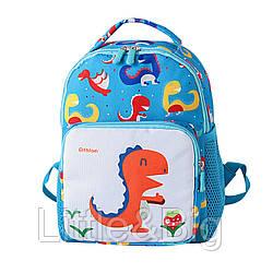 Детский рюкзак, голубой. Dinosaur.