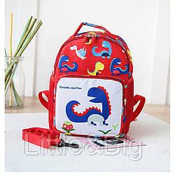 Детский рюкзак, красный. Little dinosaur.