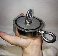 Магнит поисковый двухсторонний F*2=116мм  400кг, фото 1