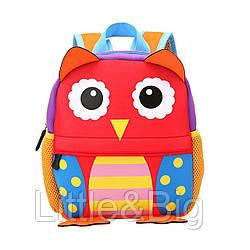 Детсский рюкзак, для девочки. Веселая сова. (Большой).