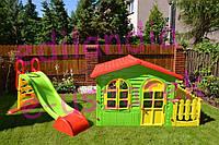 Детский домик Mochtoys 190*118*127см + горка 180 см Польша