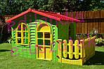 Детский домик Mochtoys 190*118*127см + горка 180 см Польша, фото 4