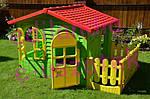 Детский домик Mochtoys 190*118*127см + горка 180 см Польша, фото 8