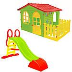Детский домик Mochtoys 190*118*127см + горка 180 см Польша, фото 9