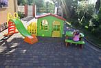 Детский домик Mochtoys 190*118*127см + горка 180 см Польша, фото 10
