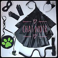 Набор аксессуаров для девочки Супер Кот / Chat Noir + перчатки, плащ, пояс-хвост, фото 1