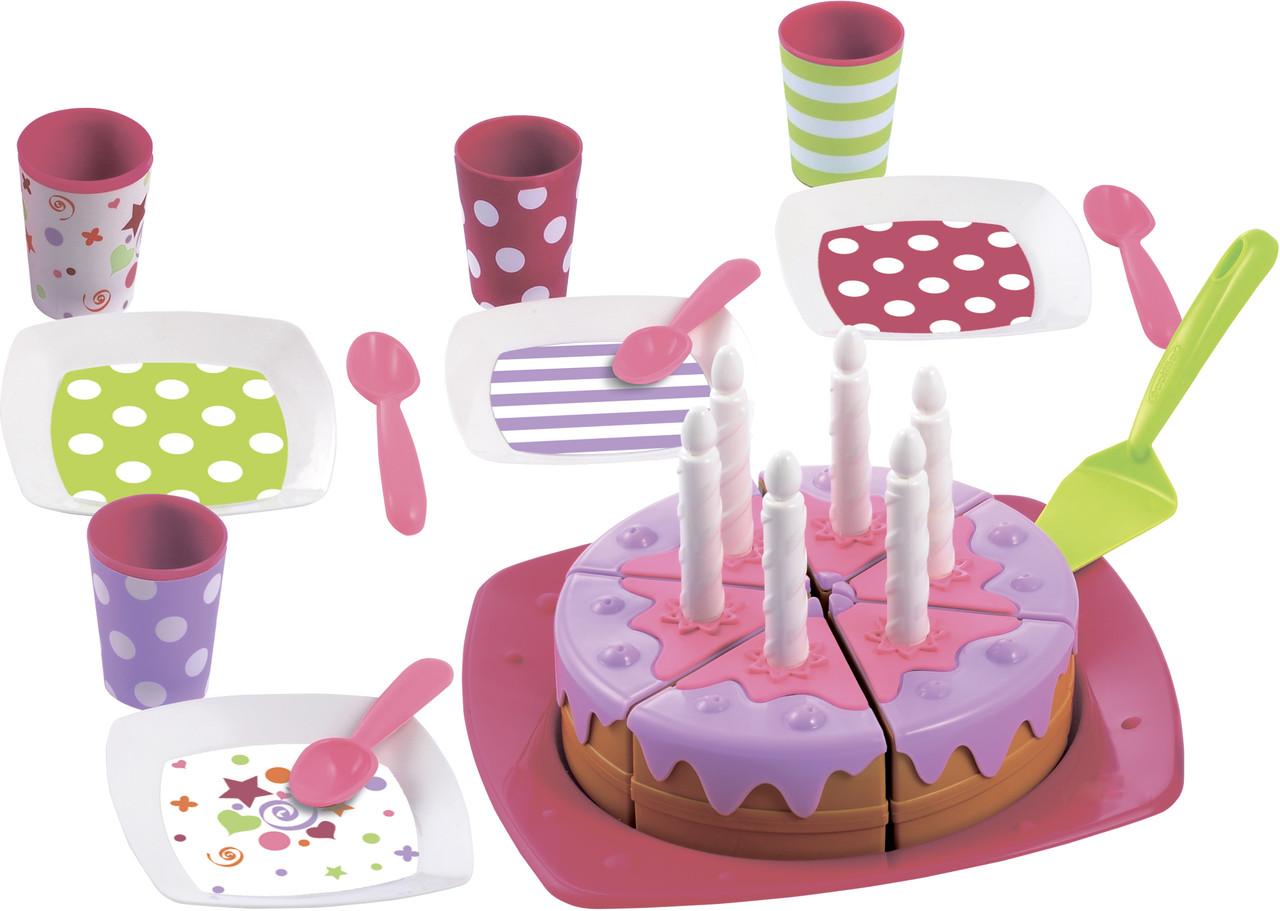 Набор посудки Ecoiffier С Днем Рождения посуда игрушечная детская 2613